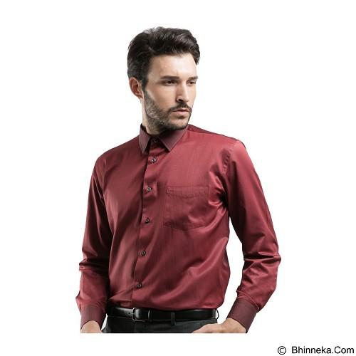 MANLY Regular Fit Striped Shirt Size 16 [Reed16] - Maroon - Kemeja Lengan Panjang Pria