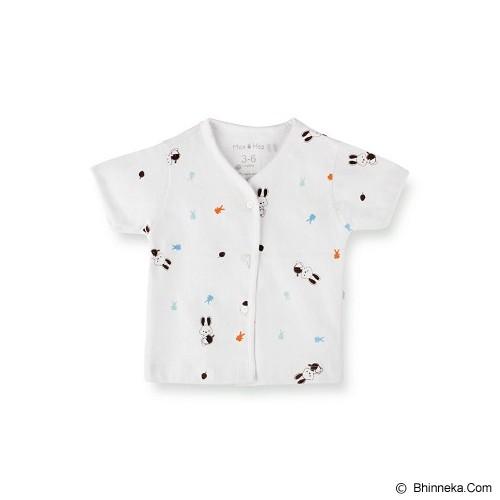 MAX AND HAZ BABY Whiteshort Sleeves Size 6-9M [WhiteSS-69] - Baju Bepergian/Pesta Bayi dan Anak
