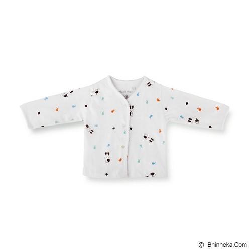 MAX AND HAZ BABY whitelong Sleeves Size 3-6M [WhiteLS-36] - Baju Bepergian/Pesta Bayi dan Anak