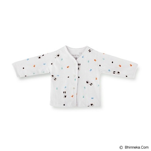 MAX AND HAZ BABY whitelong Sleeves Size 9-12M [WhiteLS-912] - Baju Bepergian/Pesta Bayi dan Anak