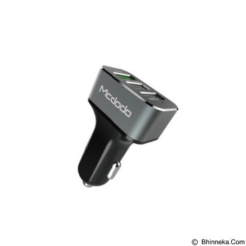 MCDODO Car Charger with Three USB Ports [CC-2241] - Grey - Car Kit / Charger