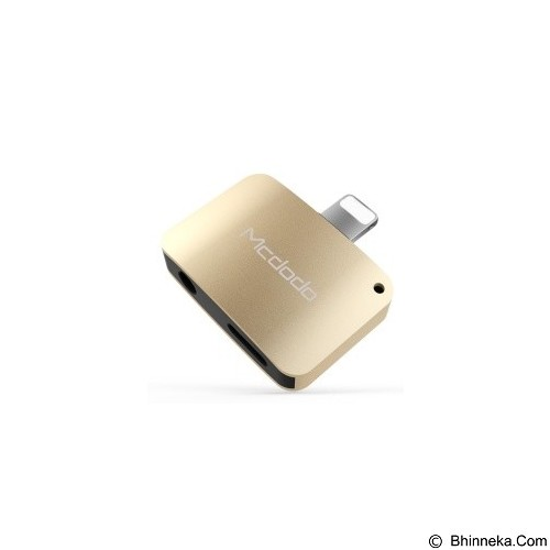 MCDODO Lightning to DC3.5mm and lightning [CA-3810] - Gold (Merchant) - Cable / Connector Usb