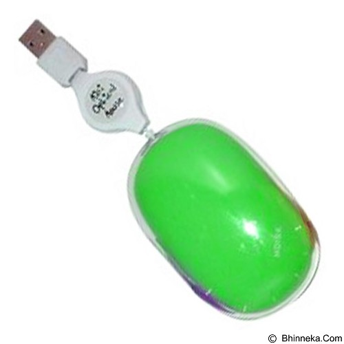 MDISK Retractable Mouse [MD-5078] - Green - Mouse Mobile