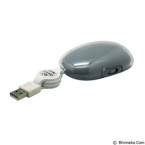 MDISK Retractable Mouse [MD-5078] - Grey - Mouse Mobile