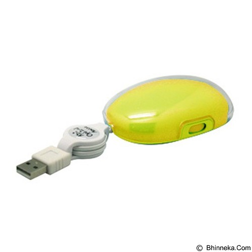 MDISK Retractable Mouse [MD-5078] - Yellow - Mouse Mobile