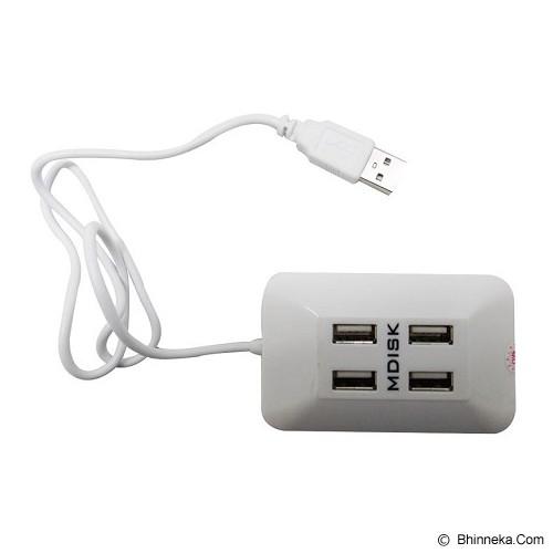 MDISK USB HUB Stop Kontak [F128] - Putih - Cable / Connector Usb