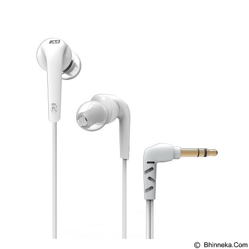 MEELECTRONICS Comfort-Fit In-Ear Headphones with Enhanced Bass RX18 [CSI-MLSK0UWH] - White - Earphone Ear Monitor / Iem