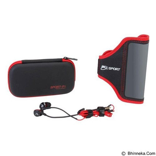 MEELECTRONICS Sport-Fi In Ear Earphones Include Sports Armband [S6P] - Red/Black - Earphone Ear Monitor / IEM