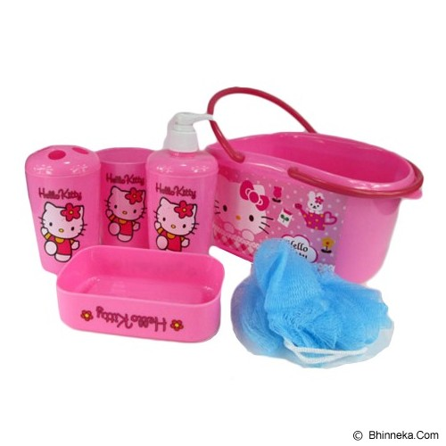 MEILYNGIFTSHOP Bath Set Keranjang Hello Kitty - Tempat Sabun Batangan
