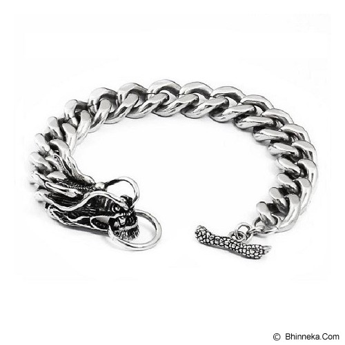 MEN'S JEWELRY Bahamut Dragon Titanium Steel [BDB211203-NV14] - Silver - Gelang Pria
