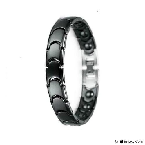 MEN'S JEWELRY Blacknight Ceramic Magnetic Bracelet [CBB181103-DC14] - Black - Alat Terapi Sendi