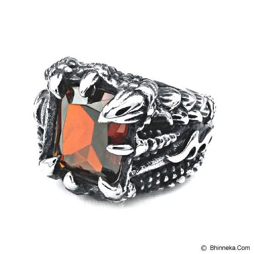 MEN'S JEWELRY Claw Dragon Ring Titanium Steel Size 9 [TDR091901-OC14] - Silver - Cincin Pria
