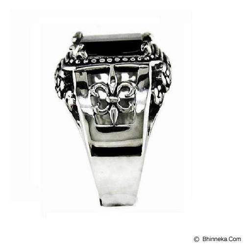 MEN'S JEWELRY Claw Fleur De Lis Ring Titanium Steel Size 10 [CFR102002-DS14] - Silver - Cincin Pria