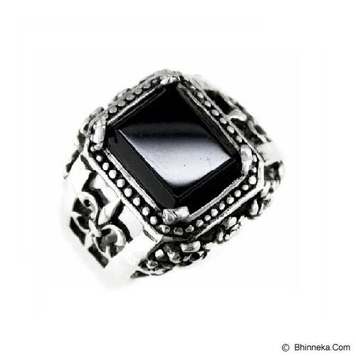 MEN'S JEWELRY Claw Fleur De Lis Ring Titanium Steel Size 9 [CFR091902-FB15] - Silver - Cincin Pria