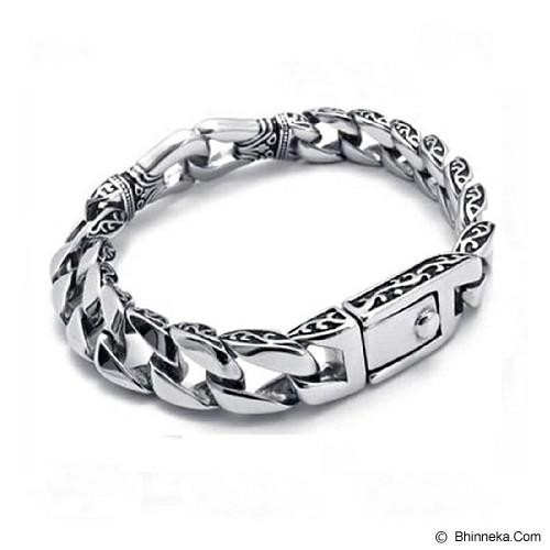 MEN'S JEWELRY Kerf Bracelet Titanium Steel [TMB1911205-AG14] - Silver - Gelang Pria