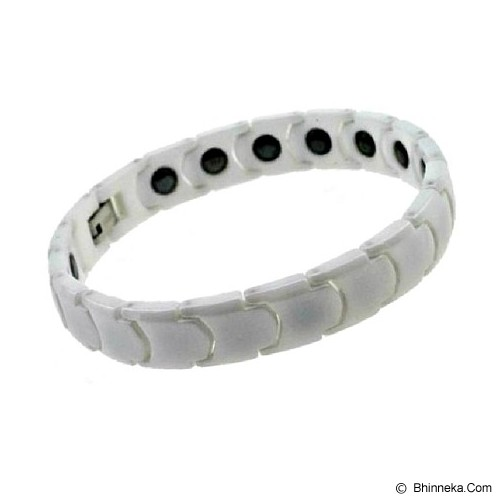 MEN'S JEWELRY Premium White Ceramic Magnetic Bracelet [CWB201003-NV14] - White - Alat Terapi Sendi