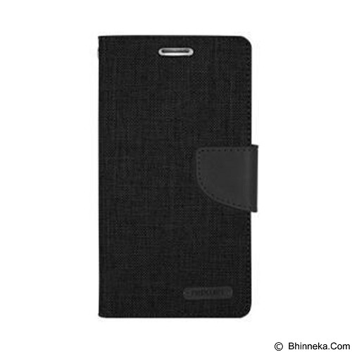 MERCURY Canvas Diary Case LG K10 Flip Cover - Black (Merchant) - Casing Handphone / Case