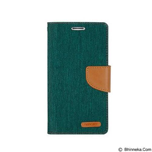 MERCURY Canvas Diary Case LG K10 Flip Cover - Green (Merchant) - Casing Handphone / Case