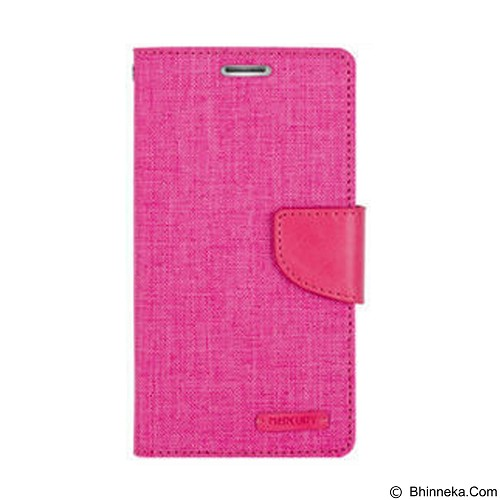 MERCURY Canvas Diary Case LG K10 Flip Cover - Pink (Merchant) - Casing Handphone / Case