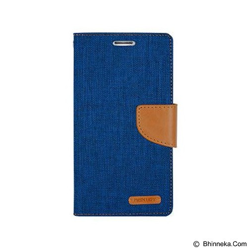 MERCURY Canvas Diary Case LG Optimus G4 Flip Cover - Blue (Merchant) - Casing Handphone / Case