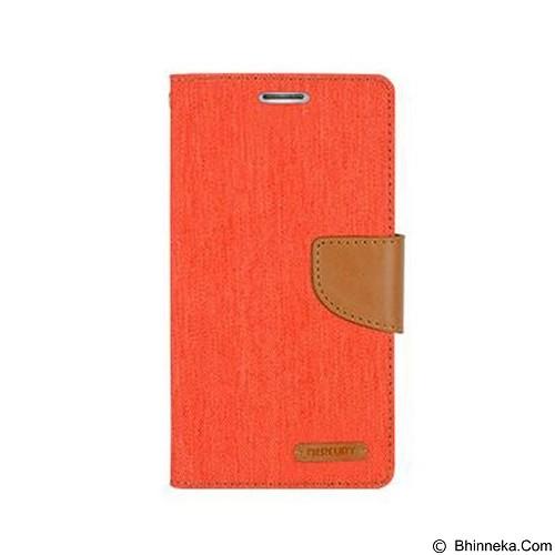MERCURY Canvas Diary Case LG Optimus G4 Flip Cover - Orange (Merchant) - Casing Handphone / Case