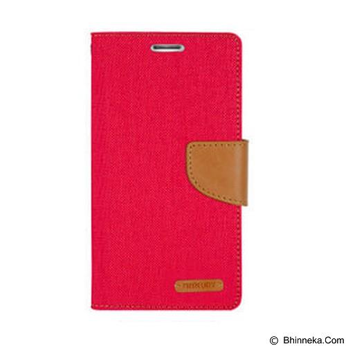 MERCURY Canvas Diary Case iPhone 7 Flip Cover - Red (Merchant) - Casing Handphone / Case