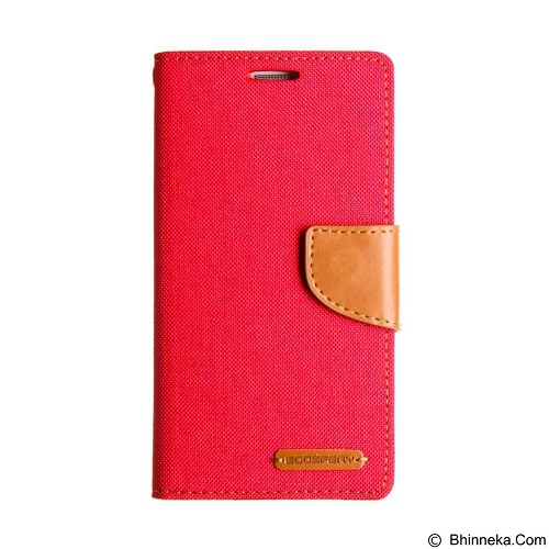 MERCURY Case Asus Zenfone 2 5.5 Goospery Fancy Diary Canvas - Red (Merchant) - Casing Handphone / Case