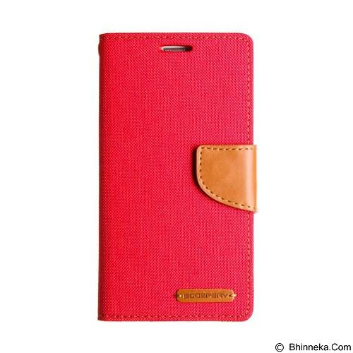 MERCURY Case Asus Zenfone 2 5.5 Goospery Fancy Diary Canvas - Red (Merchant) - Casing Handphone / Case