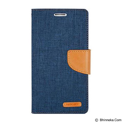 MERCURY Case Samsung Galaxy Young S6310 Goospery Canvas Diary - Dark Blue (Merchant) - Casing Handphone / Case