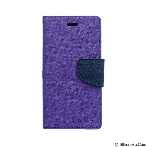 MERCURY Fancy Diary Oppo R1 R829 - Purple / Navy (Merchant) - Casing Handphone / Case