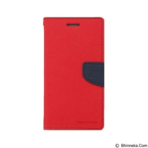 MERCURY Fancy Diary Oppo R1 R829 - Red / Navy (Merchant) - Casing Handphone / Case