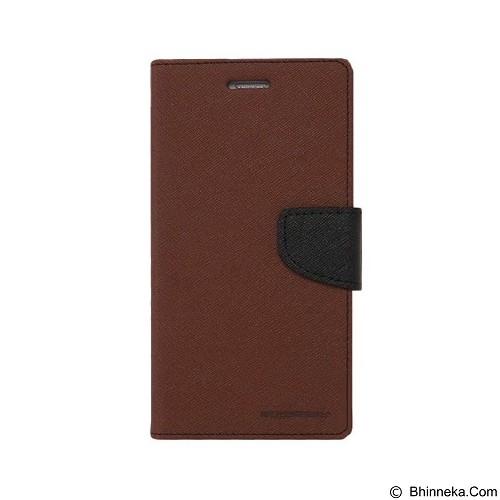 MERCURY Fancy Diary Samsung Galaxy Mega 2 - Brown / Black (Merchant) - Casing Handphone / Case