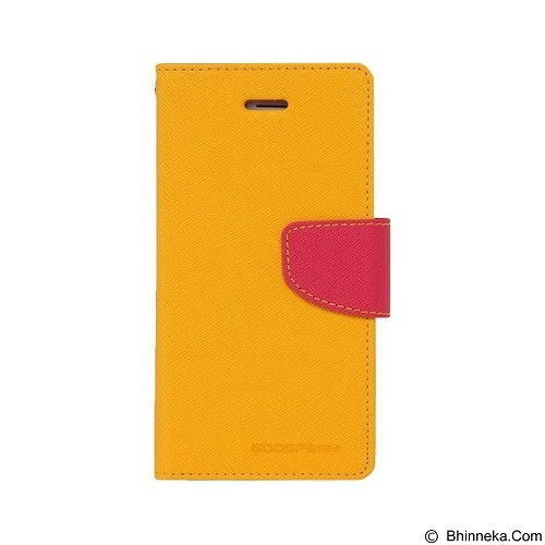 MERCURY Fancy Diary Samsung Galaxy Note 4 - Yellow / Hot Pink (Merchant) - Casing Handphone / Case