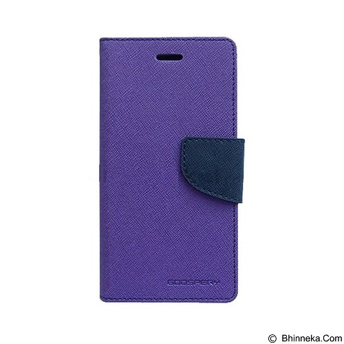 MERCURY Fancy Diary Samsung Galaxy Note Edge - Purple / Navy (Merchant) - Casing Handphone / Case