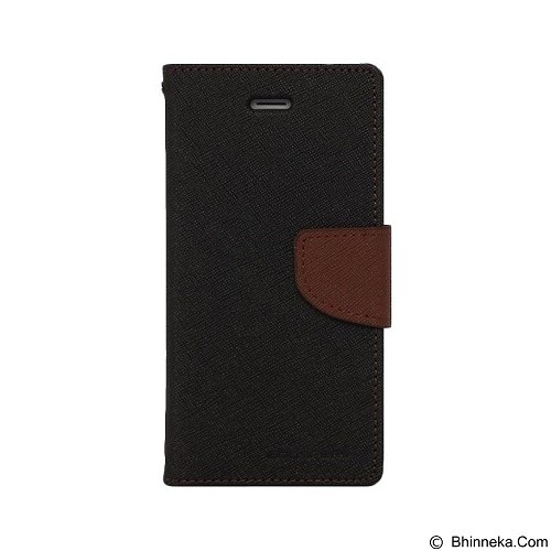 MERCURY Fancy Diary Sony Xperia C - Black / Brown (Merchant) - Casing Handphone / Case