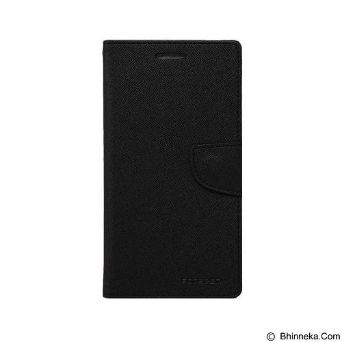 MERCURY Fancy Diary Sony Xperia M2 - Black / Black (Merchant) - Casing Handphone / Case