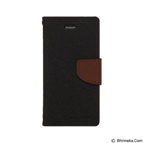 MERCURY Fancy Diary Sony Xperia M2 - Black / Brown (Merchant) - Casing Handphone / Case