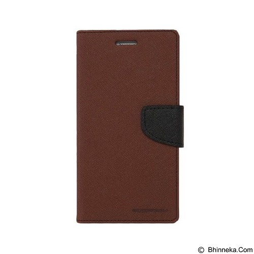 MERCURY Fancy Diary Sony Xperia M5 - Brown  / Black (Merchant) - Casing Handphone / Case