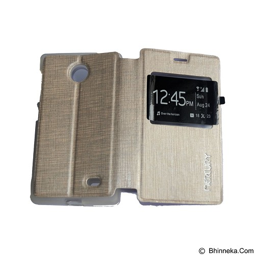 MERCURY Flipcover Case View for Nokia X - Gold (Merchant) - Casing Handphone / Case