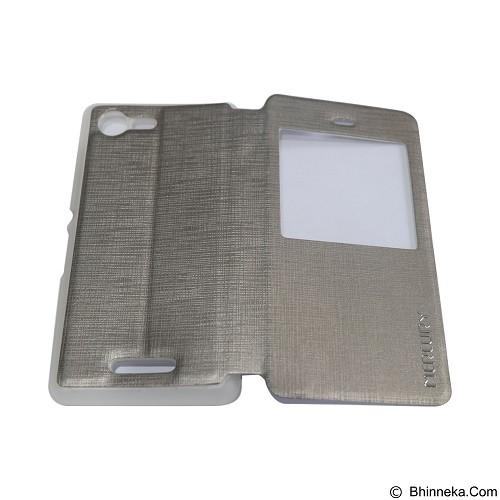 MERCURY Flipcover Case View for Samsung Galaxy E3 E300 - Silver (Merchant) - Casing Handphone / Case