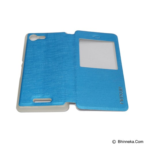 MERCURY Flipcover Case View for Samsung Galaxy E3 E300 - Soft Blue (Merchant) - Casing Handphone / Case