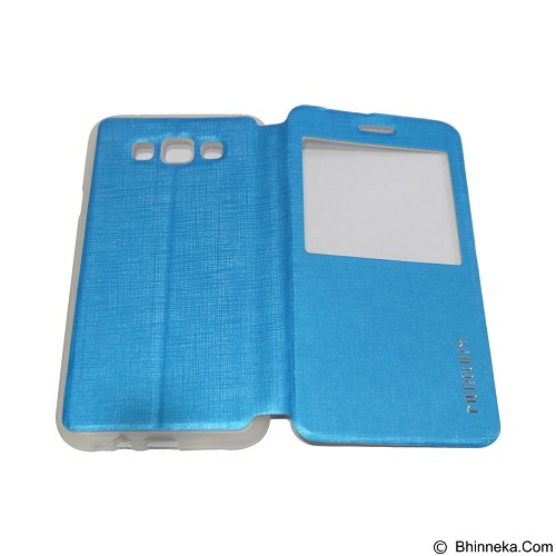 MERCURY Flipcover Case View for Samsung Galaxy E7 E700 - Soft Blue (Merchant) - Casing Handphone / Case