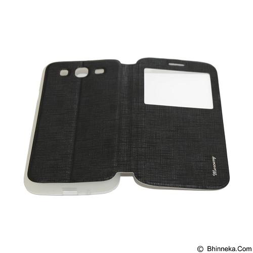 MERCURY Flipcover Case View for Samsung Galaxy Mega 5.8 i9150 - Black (Merchant) - Casing Handphone / Case
