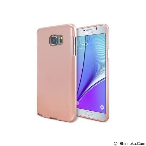 MERCURY I-Jelly Metal Case Samsung Galaxy Note 5 - Rose Gold (Merchant) - Casing Handphone / Case