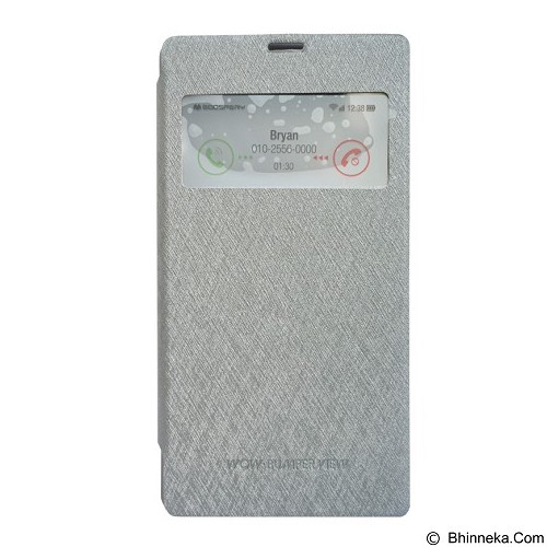 MERCURY Wow Bumper Samsung Galaxy E5 - Grey (Merchant) - Casing Handphone / Case