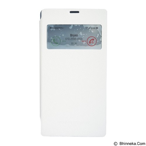 MERCURY Wow Bumper Samsung Galaxy Note 2 - White (Merchant) - Casing Handphone / Case