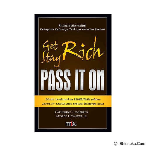 MIC PUBLISHING Geth Rich, Stay Rich and Pass It On [MIC-MDC-BK-051] - Craft and Hobby Book