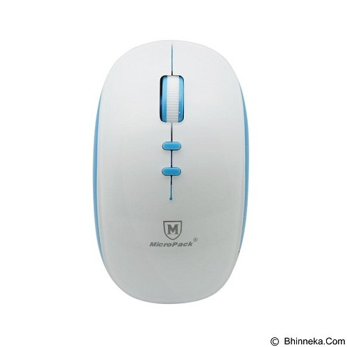 MICROPACK Optical Mouse Blue-Tech [BT-792W] - White/Blue - Mouse Mobile