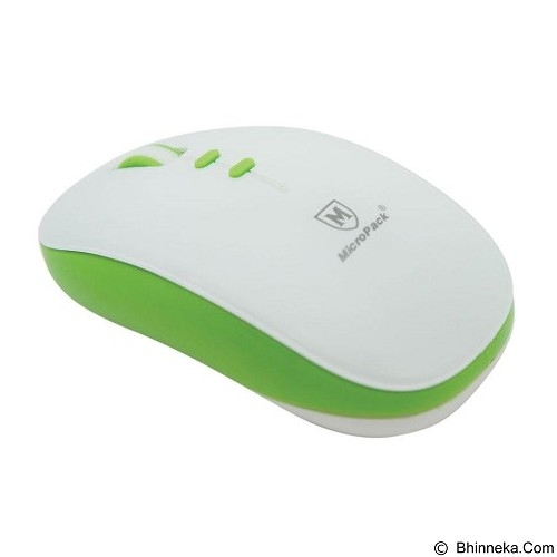 MICROPACK Optical Mouse Blue-Tech [BT-792W] - White/Green - Mouse Mobile