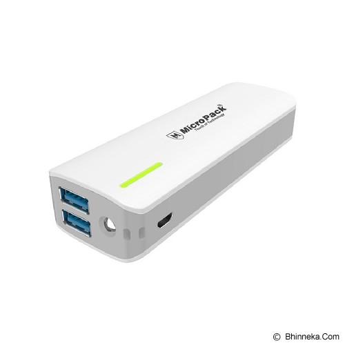 MICROPACK Power Bank 10000mAh [P10KP] - White Grey - Portable Charger / Power Bank